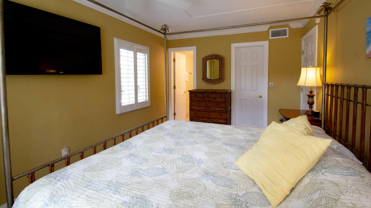 Master Bedroom With Wall Mounted TV