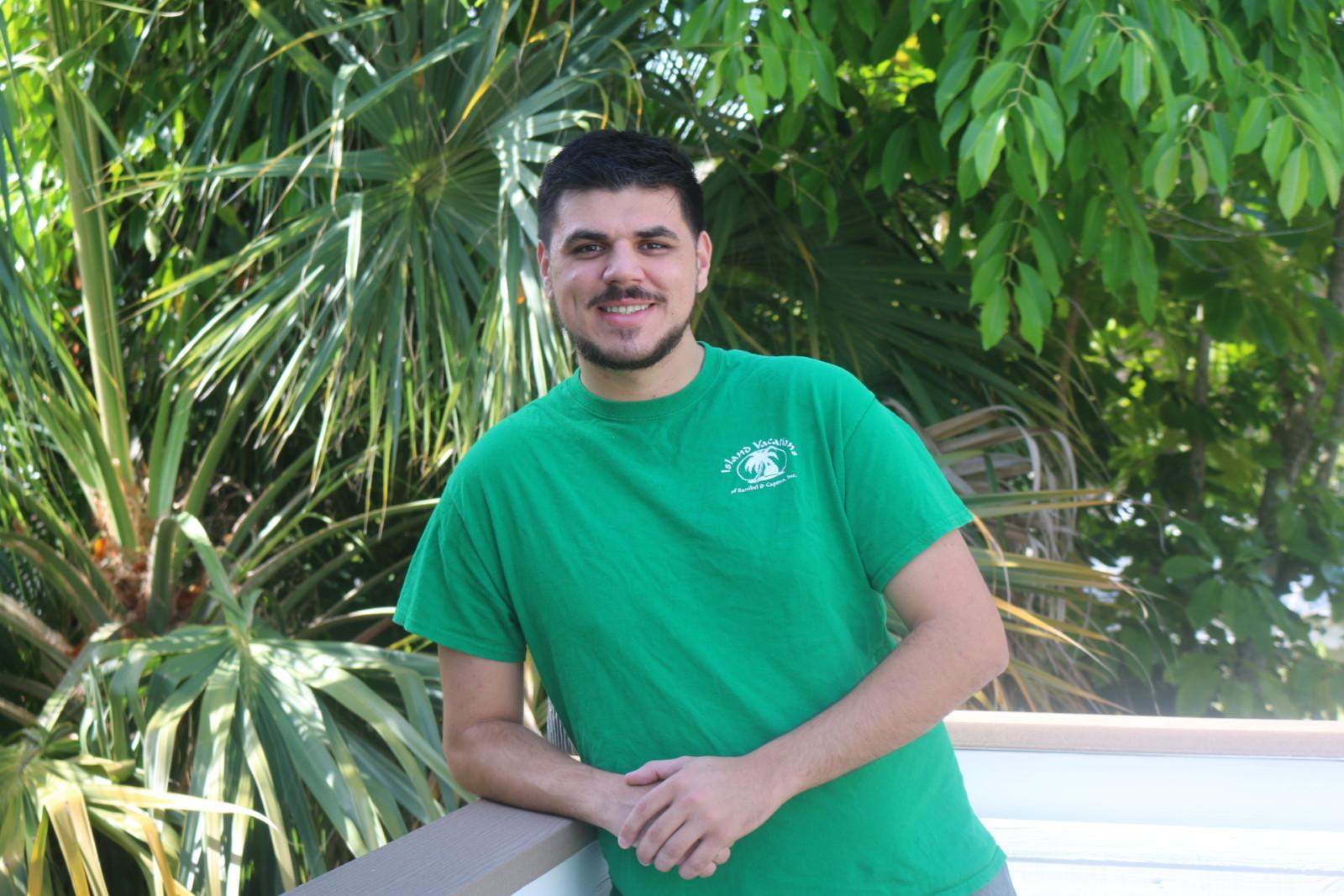 Lucas Murphy on Island Vacations' deck