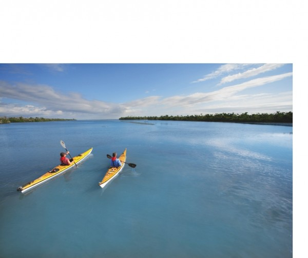 Two paddlers on the water