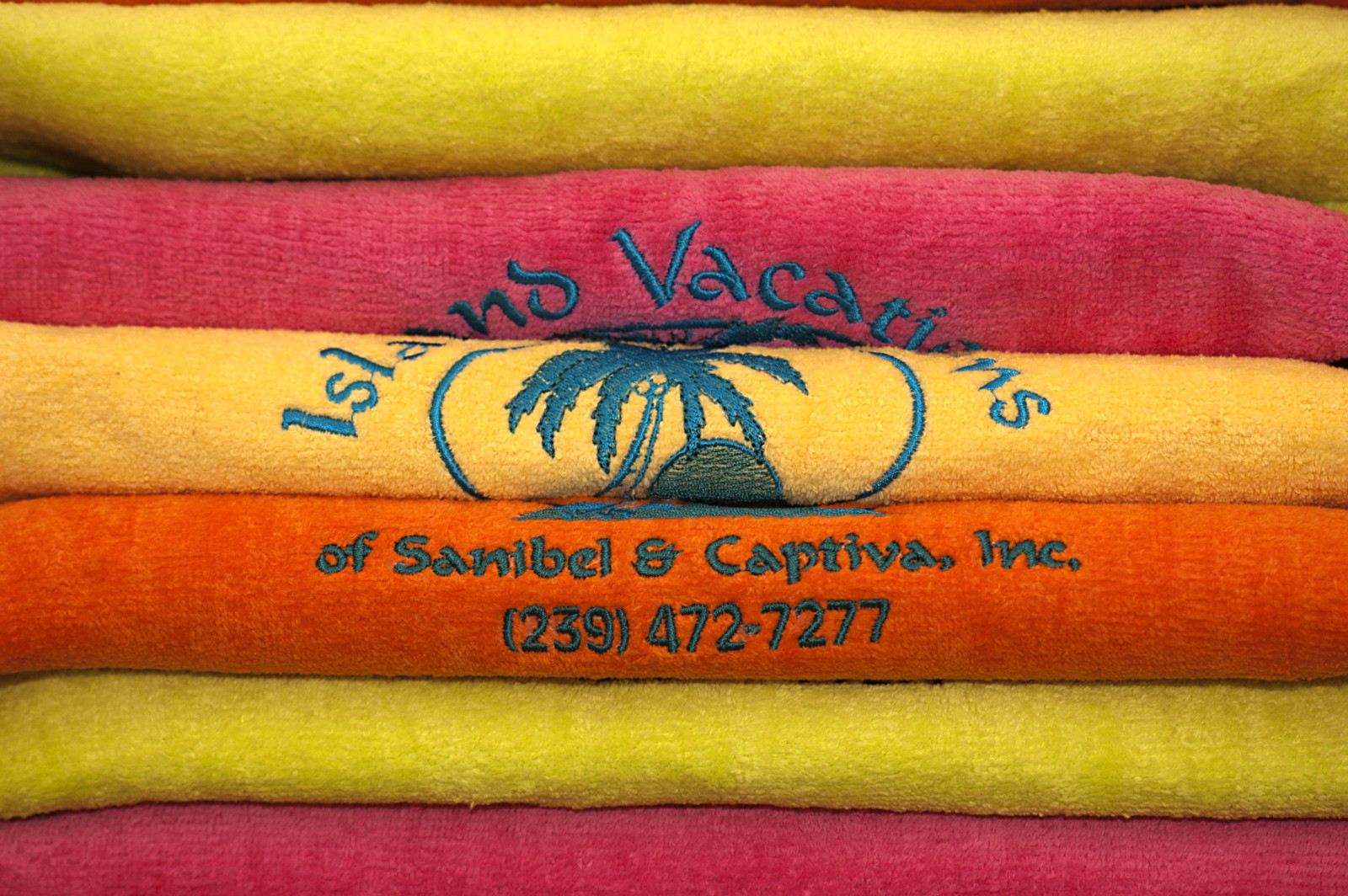 Island Vacations' beach towels