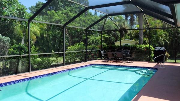 Pool Area at Sunflower Cottage