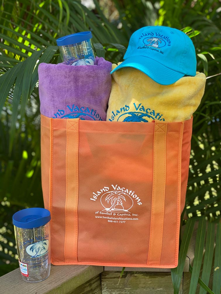 island vacations welcome tote